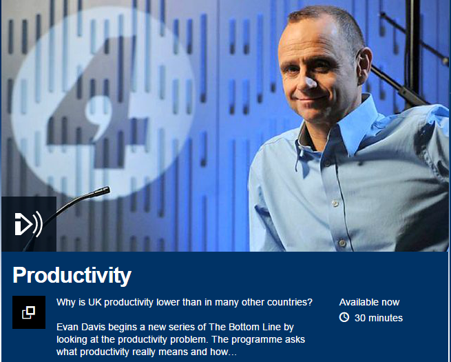 Productivity Evan Davis